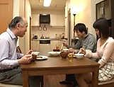 Juicy Japanese teen goes fucking with an old man picture 14
