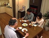 Juicy Japanese teen goes fucking with an old man picture 15