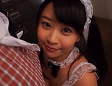 Minano Ai dresses up as maid and gives a hot blowjob picture 15