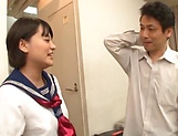 Cutie Aoyama Mirai in smiles after a nice fuck picture 15