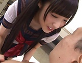 Spicy hottie Eikawa Noa passionately sucks a hard cock picture 11