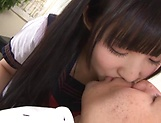 Spicy hottie Eikawa Noa passionately sucks a hard cock picture 12