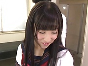 Hot schoolgirl Eikawa Noa gives a sensational handjob