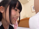 Mesmerizing cutie Aya Miyazaki likes dick deep her cunt picture 12