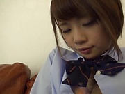 Ogura Kana removes undies to have a nice fuck on cam