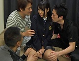 Hayama Miku, gets a messy cum in mouth