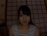 Hot Asian babe Ayane Suzukawa shows her wet hairy cunt
