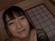 Beautiful Asian babe Ayane Suzukawa in handjob session