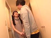 Naughty babe likes to rub hard dicks