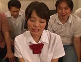 It takes three large dicks to satisfy Aoyama Mirai
