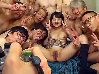 Hot Japanese Aoyama Mirai gangbanged properly