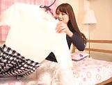 Yuikawa Chihiro Asuka Hoshino naughty teen model in solo masturbation picture 13