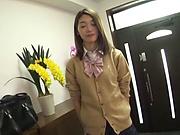 Gorgeous Japanese teen Kanae Renon enjoys toy insertions