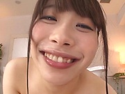 Ookura Miyu ,handles a palpitaing dick