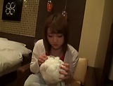 Sweet amateur girl Nanase Moe fucked hard gets cum on boobs picture 2
