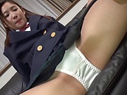 Alluring Japanese schoolgirl Sasamiya Rena in a group sex action