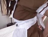 Sakura Miyuki excites in a sloppy threesome picture 11