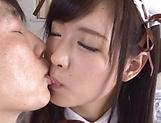 Sakura Miyuki excites in a sloppy threesome picture 13