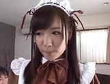Sakura Miyuki excites in a sloppy threesome