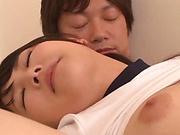 Sasaki Hina ,performs a deep trhroat blowie