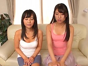 Japanese student with tiny tits had a threesome