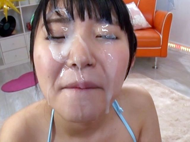 Busty Asada Yuuri insane facial after crazy blowjob