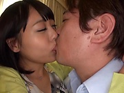 Japanese brunette is thinking about sex