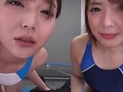 Japanese girls are having wild threesome