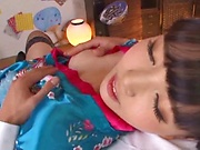 Ayanami Yume gets a messy thick cum on tits