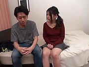 Japanese teen is giving a nice handjob
