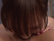 Amateur girl Kichikawa Ren licks her guy's ass and jerks off his cock