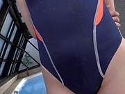 Teen in a swimsuit Ootori Kaname gets her wet body fucked hard