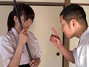 Active Japanese girl Ootori Kaname enjoys fingering and hardcore bang