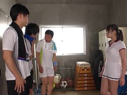 Alluring Asian teen Ootori Kaname fucked by a group of guys