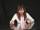 Kiyomoto Rena is sucking her sex toys picture 4