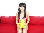 Fascinating Japanese girl Shinoda Kotomi enjoys deep ass insertion