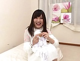 Maria Wakatsuki butt fucked while playing with her pussy