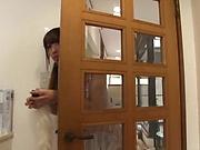 Hot Japanese girl in stockings Himari Saijo enjoys anal penetration