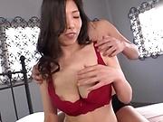 Busty brunette is into hardcore sex