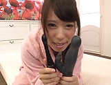 Pretty Kasai Ami toying her craving muff picture 1