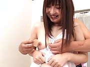 Astounding nude scenes with Wakatsuki Maria fucking hard
