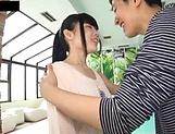 Japanese brunette likes hardcore sex