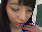 Uehara Ai thrilled by a kinky toy insertion