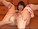 Petite Tokyo girl Uehara Ai enjoys a thrilling anal sex picture 11