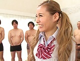 Yuuki Mari enjoys sucking a large stiff wang