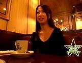 Nasty Asian minx Emiri Toda gets bukkake gangbang picture 13