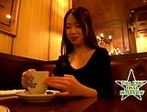Nasty Asian minx Emiri Toda gets bukkake gangbang picture 14