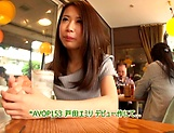 Nasty Asian minx Emiri Toda gets bukkake gangbang picture 15