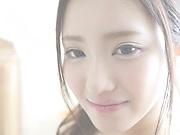 Japanese brunette likes gentle fingering