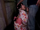 Ooshima Mio enjoys a creamy shower
